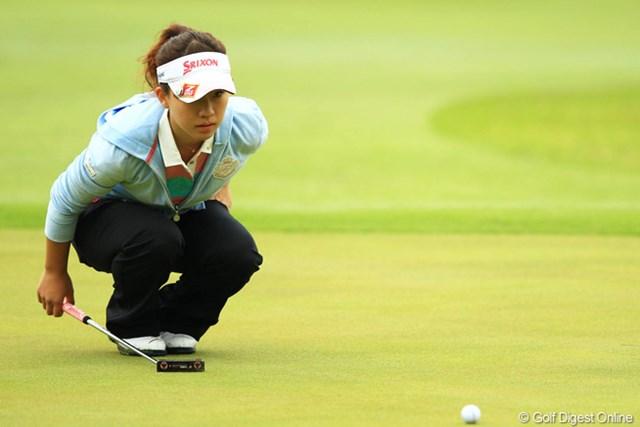 2013年 アクサレディスゴルフトーナメント in MIYAZAKI 初日 香妻琴乃 宮崎県・日章学園ゴルフ部卒です。慣れ親しんだこのコースで、今季初戦ながら、4位タイの好スタートです。