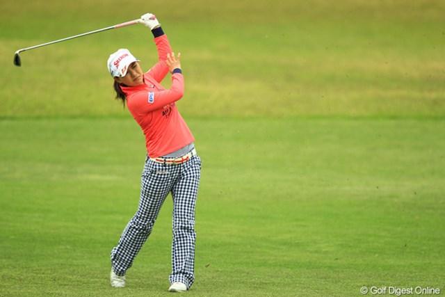 2013年 アクサレディスゴルフトーナメント in MIYAZAKI 初日 横峯さくら 終始ショットが安定しない一日でしたね。