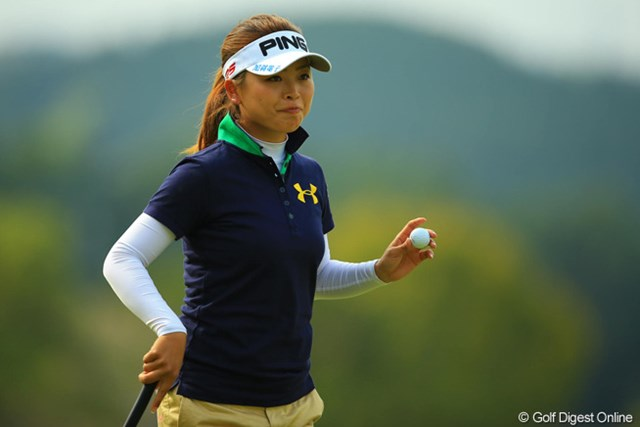 2013年 アクサレディスゴルフトーナメント in MIYAZAKI 初日 一ノ瀬優希 先週のチャンピオンは、ややお疲れ気味でしょうか?イーブンパー、47位タイスタート。