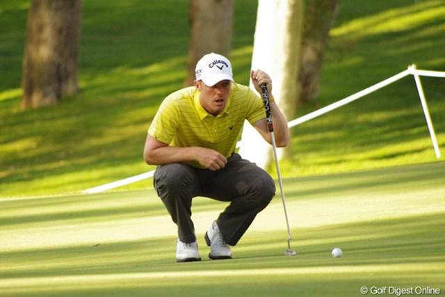 2013年 ハッサンIIゴルフトロフィー 2日目 デビッド・ホージー 同一大会2勝目に向け、首位と3打差で決勝ラウンド進出を決めたデビッド・ホージー