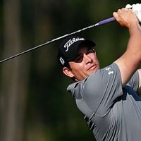 ゴルファーとして、パパとして。テキサスで奮闘中のS.ストーリングス(Getty Images) 2013年 シェル・ヒューストンオープン 2日目 スコット・ストーリングス