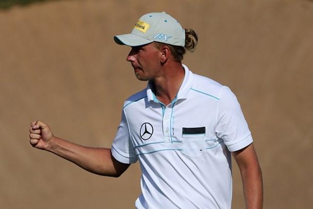 2013年 ハッサンIIゴルフトロフィー 3日目 マルセル・シーム 「マスターズ」出場権獲得に向けて、優勝への望みを繋ぎ最終日を迎えるM.シーム(Getty Images)