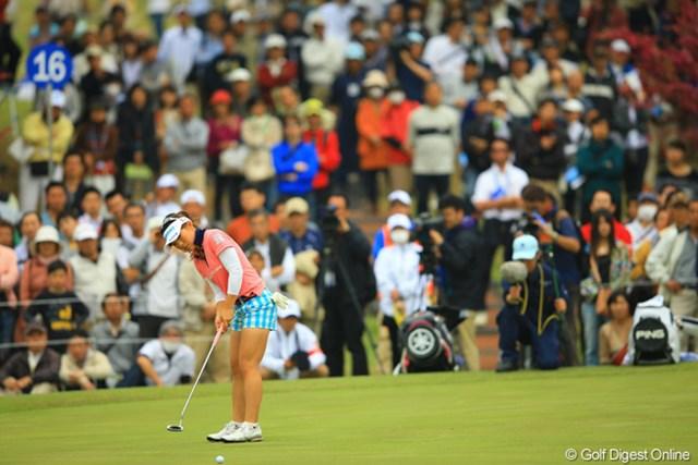 今日も多くのギャラリーが集まりました。「ゴルフ大国宮崎」は、本当に真のゴルフファンが多いなぁといつも感心します。