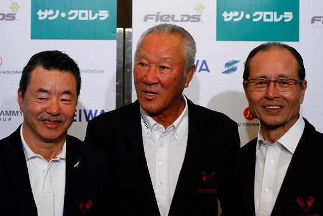 2013年 レジェンドチャリティプロアマ 今年も3人の顔ぶれが揃い、そして多くのプロゴルファーも出場する