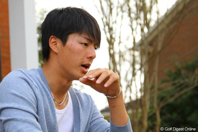 2013年 マスターズ 事前 石川遼 6日はオーガスタナショナルGC近郊の宿舎近くで、元気な姿を見せた