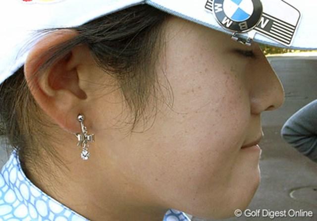 2006年 LPGAツアーチャンピオンシップリコーカップ 事前情報 諸見里しのぶ 諸見里しのぶを接写!がんばりますと抱負を語った (c) RICOH  リコーのデジタルカメラで撮影しました