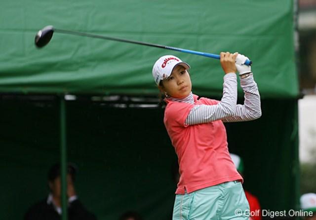 2006年 LPGAツアーチャンピオンシップリコーカップ 最終日 上田桃子 首痛も治り5位タイでフィニッシュした上田桃子