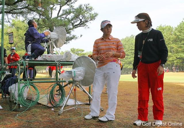 2006年 LPGAツアーチャンピオンシップリコーカップ 最終日 諸見里しのぶ 17番ティショットをここに打ち込み万事休す。このホールダブルボギーとした諸見里しのぶ