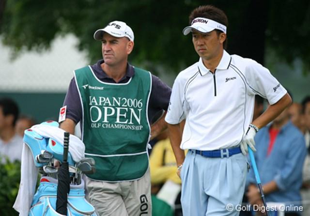 2006年 日本オープンゴルフ選手権競技 3日目 星野英正 自分のイメージカラーがブルーの星野。バック、ヘッドカバー、グリップまでブルーのトータルコーディネート