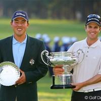 ローアマは韓国生まれオーストラリア国籍のウォン・ジョン・リー。ということで今年のタイトルはオーストラリア勢が独占! 2006年 日本オープンゴルフ選手権競技 最終日 ウォン・ジョン・リー ポール・シーハン