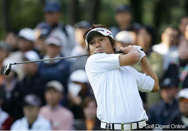 2006年 ダンロップフェニックストーナメント 田中秀道 来シーズン日本ツアー復帰が決まった田中秀道。6オーバー71位タイと大きく出遅れてしまった