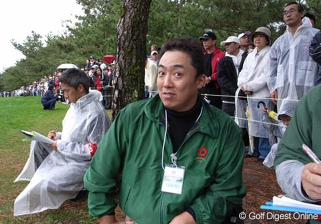 2006年 ダンロップフェニックストーナメント ゲーリー久永氏 最終日、タイガー組についてラウンドしたGDOブロガーのゲーリー久永氏、緊張していた!