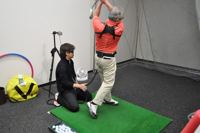 golftec 右膝の意識で軌道を修正!1-1