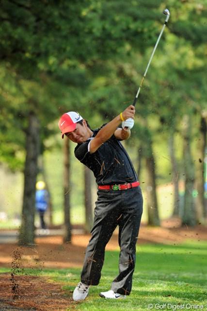 2013年 つるやオープンゴルフトーナメント 初日 伊藤誠道 上がり4ホールで3ボギー。「最後つじつまがあった感じで・・・」という伊藤誠道だが4アンダーと好スタート