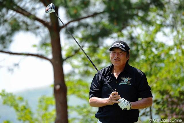 2013年 つるやオープンゴルフトーナメント 2日目 尾崎将司 2日目はスコアを伸ばせなかったが、それでも暫定首位で決勝ラウンドへ