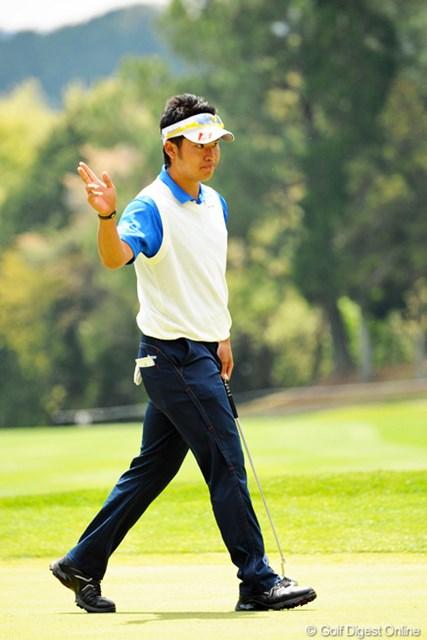 2013年 つるやオープンゴルフトーナメント 3日目 松山英樹 サスペンデッドの残り4ホールで2バーディ。そのままの勢いで突っ走るのかと期待したんですけどなァ…。