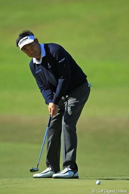 2013年 中日クラウンズ 初日 ハン・リー 前半で貯金して、後半は耐えるゴルフ。1オーバー3位タイ。