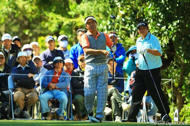 2013年 中日クラウンズ 初日 池田勇太&尾崎将司 ジャンボさんと勇太が同組でラウンド。今日はお互いに良いところを見せられず・・・。