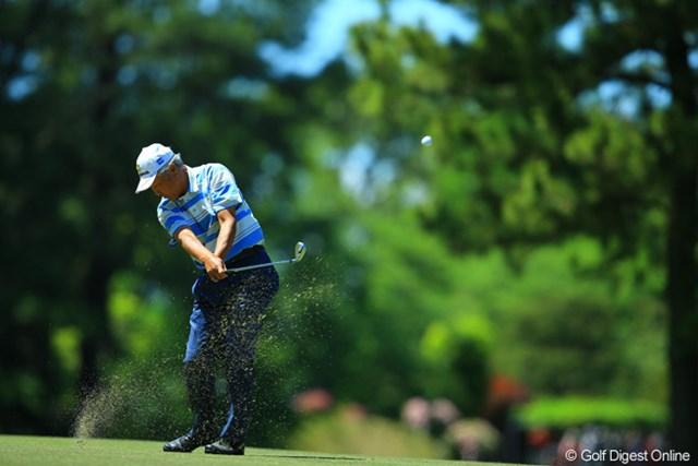 2013年 中日クラウンズ 初日 青木功 レジェンド達のゴルフが見られるのも、中日クラウンズの楽しみの一つですね。