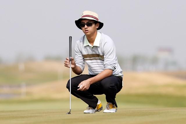 近年、ゴルフ界を賑わせている中国出身のジュニアたち。今週は16歳のドウ・ゼチェンが11位タイ発進(Lintao Zhang /Getty Images)