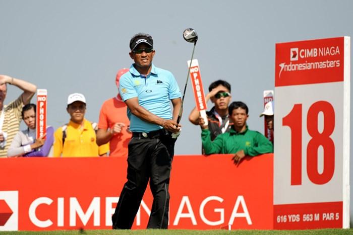 ベテランは未だ衰えを知らず。T.ジェイディが単独首位に浮上して決勝ラウンドへ(画像提供:アジアンツアー) 2013年 CIMB ニアガ インドネシアマスターズ 2日目 トンチャイ・ジェイディ