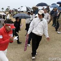 応援が多いのは良いのだが・・・マナーは守りましょう アコーディア・ゴルフ レディス2日目 大山志保