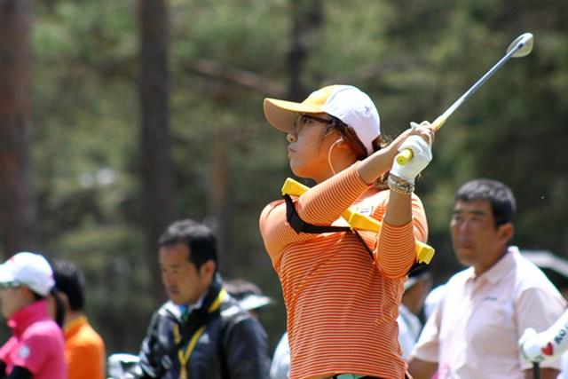 2013年 ワールドレディスチャンピオンシップサロンパスカップ 事前 リディア・コー 開幕前日のプロアマ日は練習場で調整。注目の16歳が初の日本ツアーに挑む