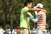 茂2013年 ワールドレディスチャンピオンシップサロンパスカップ 最終日  茂木宏美、窪田大輔さん