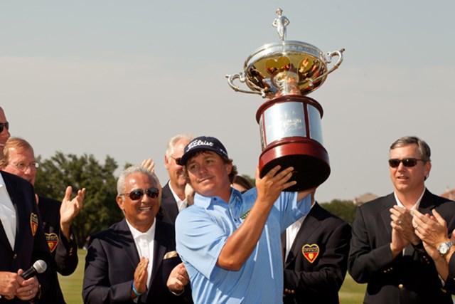 ツアー初優勝から4週間後、この大会で2勝目を果たしたジェイソン・ダフナー(Darren Carroll/Getty Images)