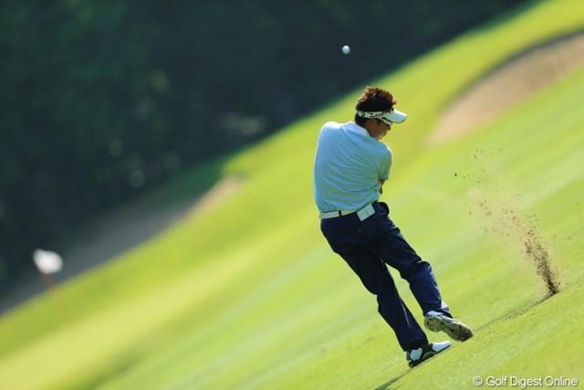 2013年 日本プロゴルフ選手権大会 日清カップヌードル杯 2日目 高山忠洋 俺にもこの左足首の柔らかさがあったらなぁ。