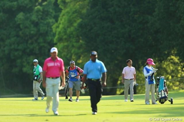 2013年 日本プロゴルフ選手権大会 日清カップヌードル杯 2日目 新田充 外人選手2人のパワー(飛距離)に完全に置いて行かれてしまう現実。