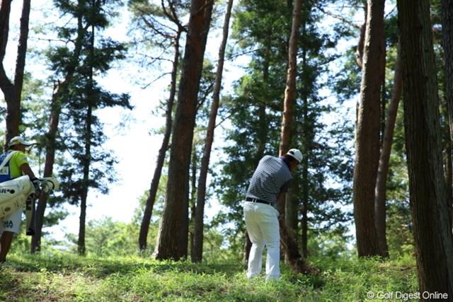 2013年 日本プロゴルフ選手権大会 日清カップヌードル杯 2日目 谷原秀人 クラブって頑丈だなぁ、と思ったインパクト。