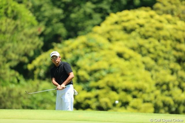 2013年 日本プロゴルフ選手権大会 日清カップヌードル杯 2日目 塚田好宣 ほとんどフォローをとらないアプローチ。。。参考にしよ。