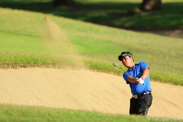 2013年 日本プロゴルフ選手権大会 日清カップヌードル杯 2日目 平塚哲二 写真的にはOKだけど、実はホームラン。