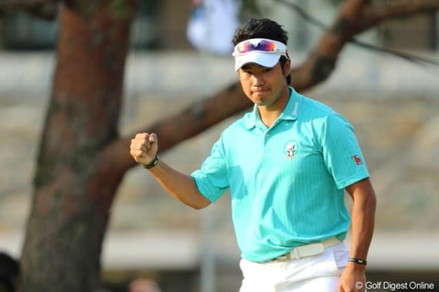 2013年 日本プロゴルフ選手権大会 日清カップヌードル杯 3日目 松山英樹 最終18番でバーディ!松山英樹がプロ2勝目に王手をかけた。