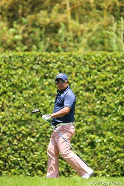 2013年 日本プロゴルフ選手権大会 日清カップヌードル杯 3日目 プラヤド・マークセン 時折、出川哲朗に見えることがある。