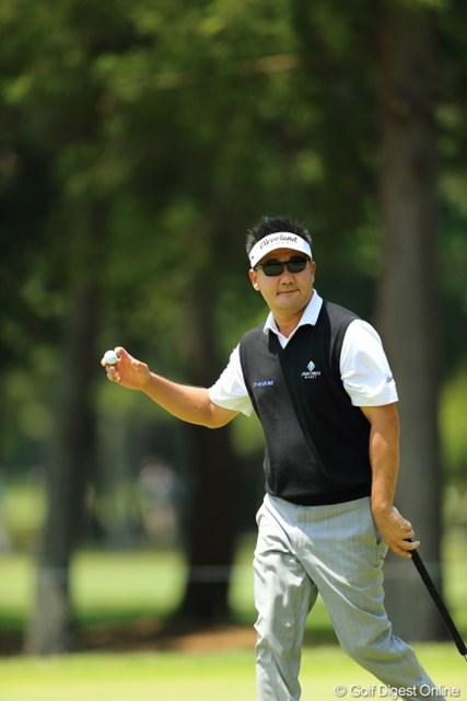 2013年 日本プロゴルフ選手権大会 日清カップヌードル杯 3日目 ハン・リー 星君!自分は左門豊作ですたい!