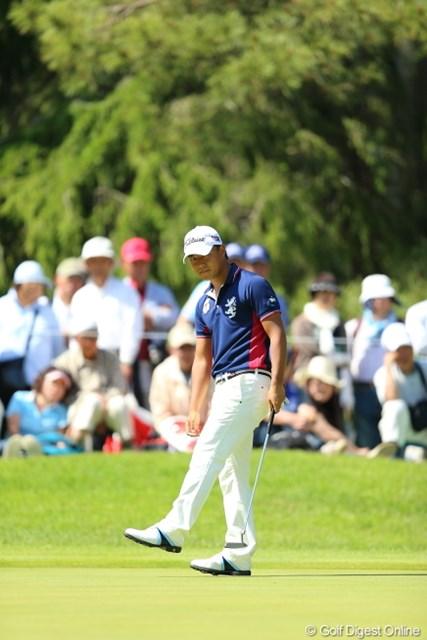 2013年 日本プロゴルフ選手権大会 日清カップヌードル杯 3日目 小平智 あがり4ホールで4オーバーは痛いね。