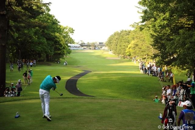 2013年 日本プロゴルフ選手権大会 日清カップヌードル杯 3日目 松山英樹 明日のこの18番ティはギャラリーが埋め尽くすだろうね。