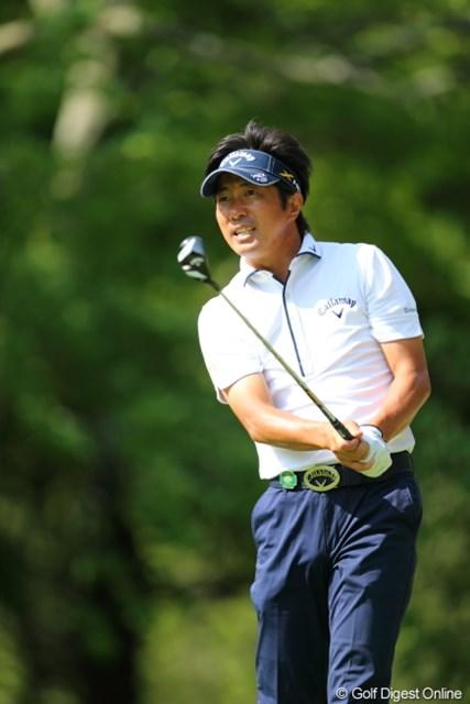 2013年 日本プロゴルフ選手権大会 日清カップヌードル杯 3日目 深堀圭一郎 風が似合うのは髪型のせい?