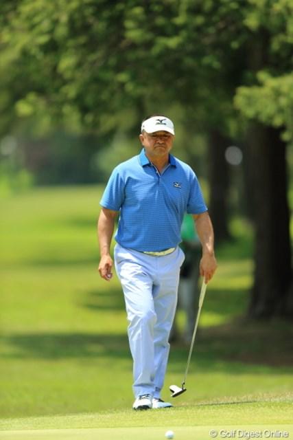 2013年 日本プロゴルフ選手権大会 日清カップヌードル杯 3日目 川岸良兼 このおとっさん、僕と同じ歳なのです。