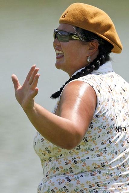クリスティーナ・キム 1イーグル、4連続バーディを含む「63」で単独首位に立ったC.キム(Gregory Shamus /Getty Images)