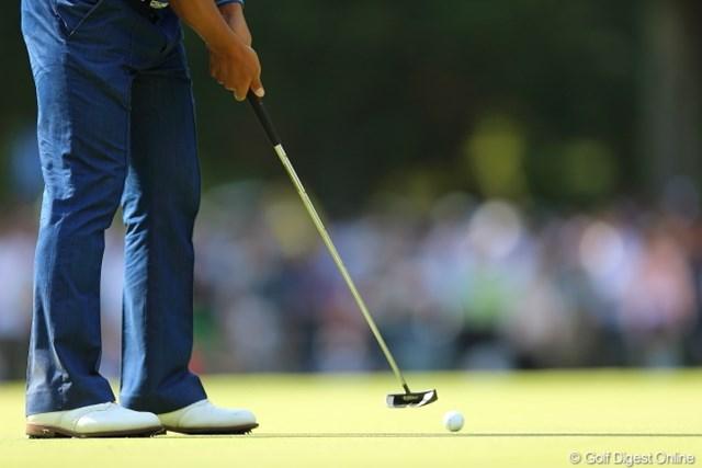 2013年 日本プロゴルフ選手権大会 日清カップヌードル杯 3日目 宮里優作 大事なところで何度かカップになめられていたね。