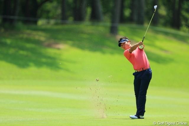 2013年 日本プロゴルフ選手権大会 日清カップヌードル杯 3日目 河野祐輝 昨年の下部ツアー賞金王 2位河野は松山を捕えられるか。
