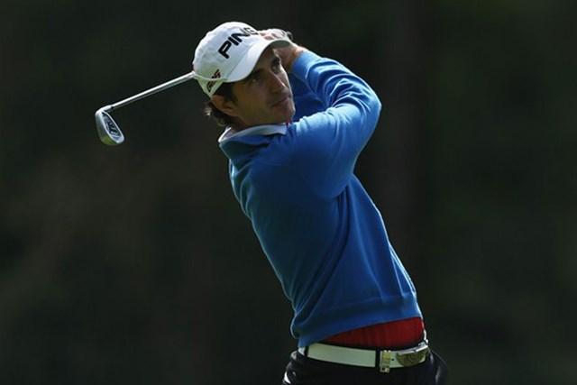 2013年 BMW PGA選手権 2日目 アレハンドロ・カニサレス ムービングデーにトップに立ったA.カニサレス。後続の追い上げを振り切れるか。(Getty Images)