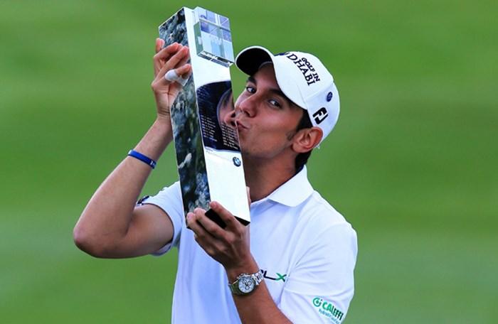 三つ巴のプレーオフを制したマッテオ・マナッセロがツアー通算4勝目を果たした(David Cannon/Getty Images) 2013年 BMW PGA選手権 最終日 マッテオ・マナッセロ