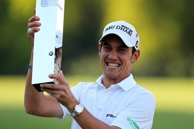 2013年 BMW PGA選手権 最終日 マッテオ・マナッセロ プレーオフの末に4度目のツアー優勝を果たしたマッテオ・マナッセロ(Getty Images)