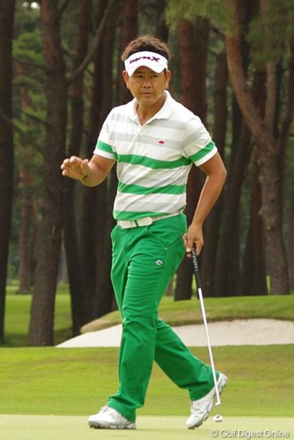 2013年 全米オープン 日本最終予選 藤田寛之 最終ホールでバーディを決めプレーオフに。藤田は「ここぞ」の強さを見せた