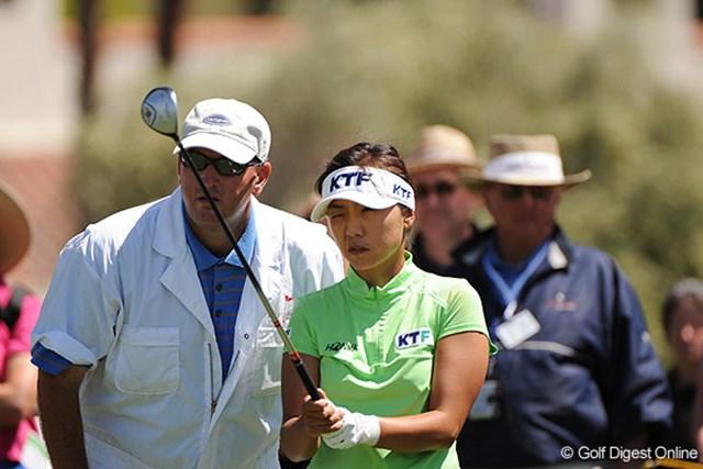 金美賢 金美賢は2アンダーの6位タイ。層の厚い韓国勢のトップを走っている