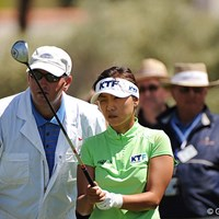 金美賢は2アンダーの6位タイ。層の厚い韓国勢のトップを走っている 金美賢